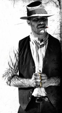 Tom Hardy- just absolutly obssesed with this sexxy man, especialy in LAWLESS <3 oo lord