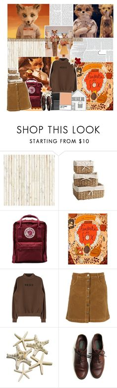 """""""- You really are kind of a quote-unquote fantastic fox"""" by out-in-the-twilight ❤ liked on Polyvore featuring Lab, Piet Hein, Pier 1 Imports and Fjällräven"""