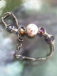 7 1/4 Bracelet,  Glass Japanese Seed Beads,  by TheBraceletNook, $18.50