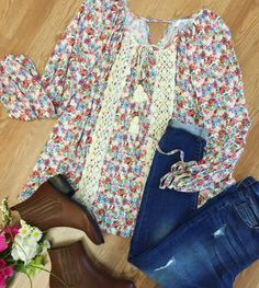 Pretty in petals  Shop this fab outfit in stores & online! #shopPD