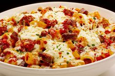 Rigatoni, ground beef and spaghetti sauce are the makings of the easiest weeknight dishes around—and this family-pleasing pasta bake is no exception.