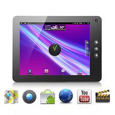 Crepúsculo - android tablet 2.3 con 8 pulgadas táctil capacitiva (1.2GHz CPU, flash10.4, wifi, cámara, soporte de 3G) – USD $ 148.99