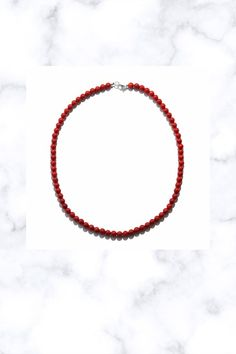 Women's 925 Sterling Silver Red Coral Beaded Bead Necklace Jewelry Necklaces, Beaded Necklace, Beaded Bead, Pendant Necklace, Fantasy Jewelry, Red Coral, Stone Names, Hoop Earrings, Handmade Items