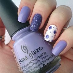 Purple Dots by sandrapinkyblue. Used: China Glaze Tart-y for the Party and OPI Liquid Sand Can Not Let Go.