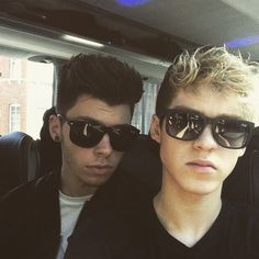 James and Reece of Stereo Kicks in their Raybans ...