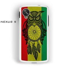 Owl Jamaican Flag for Nexus 4/Nexus 5 phonecases