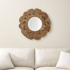 Sale ends soon. Dramatically scaled driftwood cross-section reflects on nature's infinite beauty in fantastic whorls and intriguing gnarls that encircle a round beveled mirror. Mirror Wall Collage, Tall Wall Mirrors, Lighted Wall Mirror, Rustic Wall Mirrors, Round Wall Mirror, Beveled Mirror, Door Mirrors, Decorative Mirrors, Mirror Mirror