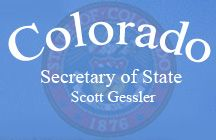 Colorado Secretary of State, Scott Gessler Business and Licensing