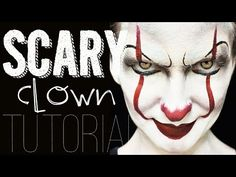 IT Pennywise Face Paint Halloween Makeup Tutorial - YouTube