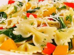 Holiday Pasta Dishes   Barilla Farfalle with Peppers and Arugula   Holiday Pasta Side Dishes