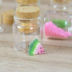 Tiny watermelon brooch