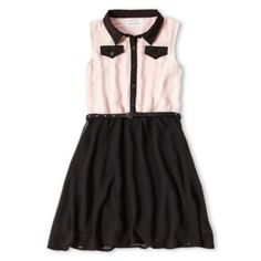 Sally M™ Sally Miller Pleated Shirt Dress - Girls 6-16 found at @JCPenney- Something we both like.
