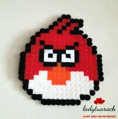 Angry bird made with pyssla bead