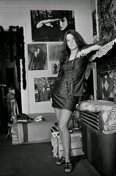 Janis at her Lyon Street apartment in San Francisco, 1968