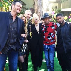 Blake Shelton, Shakira, Adam Levine, Gwen Stefani, Pharrell Williams, and Usher