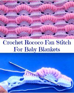 rococo fan stitch for baby blankets