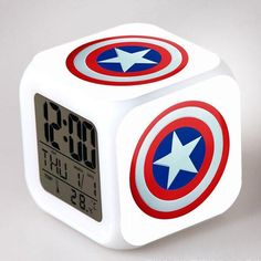 Avengers Super Hero L.D Alarm Clock - Ironman - Captain America - Hulk - Thor - Black Widow - Hawkeye Avengers Bedding, Avengers Room, Marvel Avengers, Marvel Bedroom, Marvel Nursery, Led Alarm Clock, Superhero Room, Teen Girl Bedrooms, Room Themes