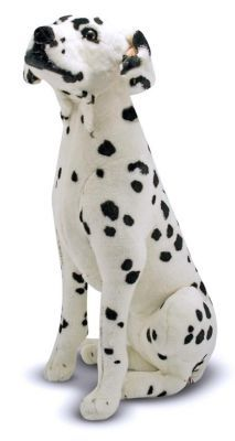 Dalmatian - Plush Price: $42.99  A perfect companion for any dog lover or as a mascot at the firehouse. Once 'spotted,' this adorable Dalmatian cannot be forgotten! With top-quality construction and attention to details, right down to its floppy ears, this polka-dot pooch is oh-so lovable!