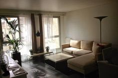 Check out this awesome listing on Airbnb: Central Paris Design Apartment in Paris Paris Rooms, Paris Design, Sofa, Couch, Home And Deco, Flat Design, Open Plan, Queen Size, Bedroom