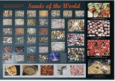 """American Educational - Sands Of The World Poster - Laminated.     The interesting and educational """"Sands of the World"""" poster is 37.5""""W x 26""""H and is fully laminated. Features actual close up photographs of sand samples from different areas of the world...     http://www.magellanmontessori.com/topic/182/geology"""