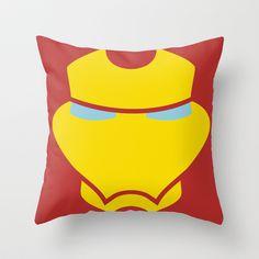 Iron Mask Throw Pillow