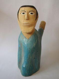 Arte Popular do Brasil: Aberaldo Santos Aberaldo Santos, título desconhecido, madeira policromada. Foto: autoria desconhecida.