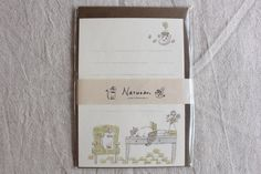 Cat Washi Letter Writing Set | Animal Letter Set | Letter Writing Set - 12 papers - 4 envelopes - 9408