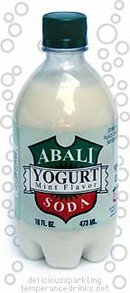 Doogh or Ab-Ali - bubbly yogurt drink. (Water from a natural mineral spring and yogurt, bottled in glass  like the old Pepsi.... don't shake it before opening it!)