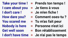 French Words Quotes, Basic French Words, How To Speak French, Learn French, French Language Basics, French Language Lessons, French Lessons, French Slang, French Phrases