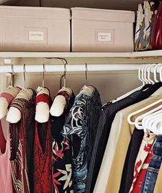 Stow Out-of-Season Pieces | Closets can be the bane of your existence. Steal some ideas from those pictured here.