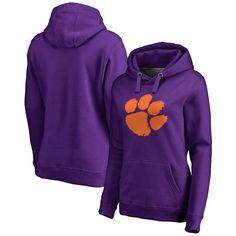 Clemson Tigers Fanatics Branded Women's Plus Sizes Primary Team Logo Pullover Hoodie - Purple