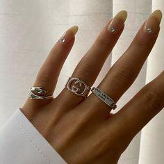 Nail Jewelry, Cute Jewelry, Silver Jewelry, Jewelry Accessories, Silver Rings, Cartier Jewelry, Stylish Jewelry, Piercings, Nail Ring