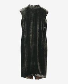 SILK VELVET COLUMN DRESS by TOAST