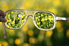 This is what it was like when I got my glasses. I remember thinking how clear the grass looked and I had never noticed before.