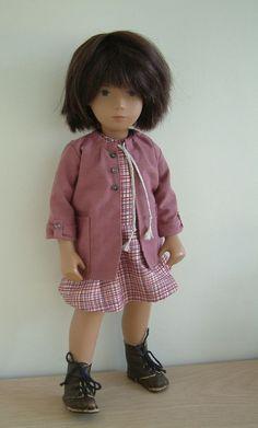 Dress and jacket for 17 inch Sasha doll by Frances Trickett Sasha Doll, Bear Doll, Smock Dress, Reborn Babies, Baby Accessories, Antique Dolls, Beautiful Dolls, Smocked Dresses, American Girl