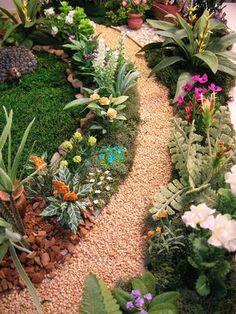 Doll House Miniature - Garden - Mediterranean Villa - Natures Soul Miniatures blog