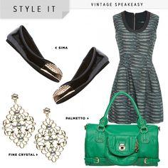 Green palmetto purse