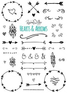 Hearts & Arrows - Vector & PNG by Rachel White Art on Creative Market