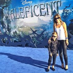 Stylist Luisa Fernanda Espinosa poses with her 6-year-old son Alonso Mateo at the Maleficent premiere on May 28.