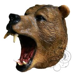 Latex Full Head Animals Realistic Bear High Quality Fancy Dress Up Party Masks #halloween #latex #blackcrow   http://stores.ebay.co.uk/state-of-latex