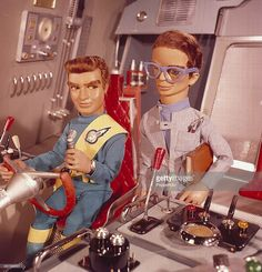 1968 'Virgil Tracy' and 'Brains' pictured in a scene from the television series 'Thunderbirds' first broadcast in 1965 Timeless Series, Thunderbirds Are Go, Movies And Series, Tv Series, Kids Tv, Old Tv Shows, Vintage Tv, Cartoon Tv, Classic Cartoons