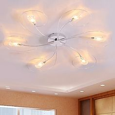 Chandeliers/Flush Mount Bulb Included Modern/Contemporary Living Room/Dining Room/Bedroom – EUR € 109.08