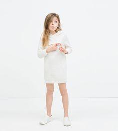 HOODED JACQUARD DRESS-View all-Dresses-Girl (3-14 years)-KIDS | ZARA United States