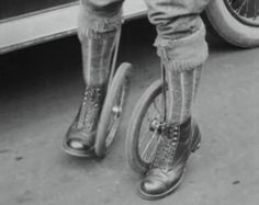 Cycle Skating. Thee sport of 1923. This actually looks like fun.