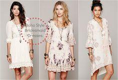 Boho Bridesmaid Dresses | favorite wedding styles is the boho wedding look this style wedding ...