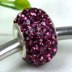 Purple Swarovski Crystal Beads (6 Available)
