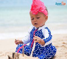 SwimZip Flower Power Baby UV Sun Protective Rash Guard Swimsuit Set Swimwear