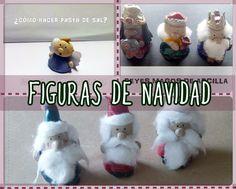 Figuras de Navidad con arcilla y pasta de sal. Manualidades para niños