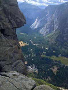Afraid of heights?  Beautiful view of Yosemite Valley