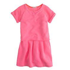 Girls' cutoff sweatshirt dress
